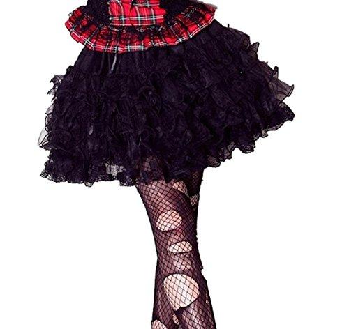 Dark Dreams Gothic Punk Dolly Kei Lolita Kawaii Mini Rock Petticoat Tutu schwarz 36 38 40 -