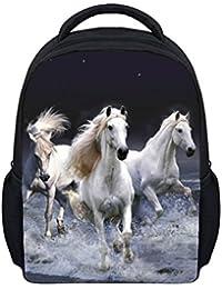 3183185771e46 Wrail Unisex-Kinder Rucksack 3D-Druck Kindergartentasche Schulrucksack  Schultasche Kindergarten Rucksack mit Tiermotiv Pferd