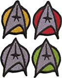 4er SET Star Trek Startrek Captain Uniform Kostüm Aufnäher Patch Abzeichen