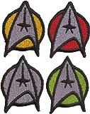 4er SET Star Trek Startrek Captain Uniform Kostüm Aufnäher Patch Abzeichen