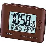 Casio dq-982N-5df–Wecker mit Kalender, Thermometer und Hygrometer (braun)