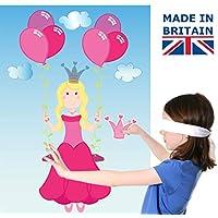 Lello & Monkey Pin the tiara on the princess kids party game