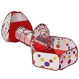 Travel Dream Faltbare Kinder Pop Up Spielen Zelt mit Tunnel und Ball Pit mit Reißverschluss Aufbewahrungstasche für Kinder Indoor Outdoor Playhouse Kinder spielen Gaming Toys