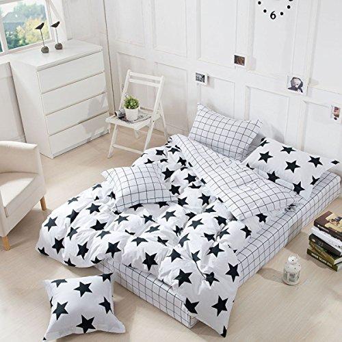 NXL Premium Eine Vierköpfige Familie Bettwäsche Bettwäsche Bettdecke Kissenbezüge Multicolor Multi-Größe Aus Reiner Baumwolle Neuen Winter,Black4