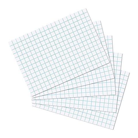 Herlitz Squared Index Cards - White (Pack of 100)