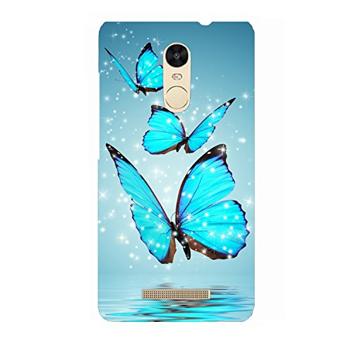 Clapcart Butterfly Design Printed Mobile Back Cover for Xiaomi Redmi Note 3 -Multicolor