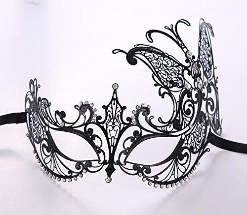 ke, die Hälfte gegenüber Metall eisernen Maske, Halloween Kostüm Party Festival, TY014 Seite Schmetterling (Venedig Festival Kostüme)