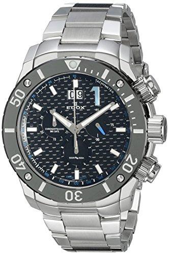 EDOX 10020 3M NBU - Reloj de pulsera hombre, acero inoxidable, color Plata