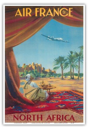 north-africa-saharan-desert-air-france-vintage-airline-travel-poster-by-vincent-guerra-c1950-master-