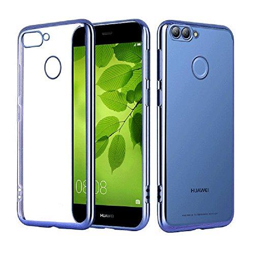Coque Huawei nova 2 plus, MSVII® TPU Souple Transparent Bumper Coque Etui Housse Case et Protecteur écran Pour Huawei nova 2 plus - Noir JY60024 Bleu