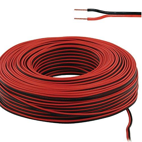 Eurosell Highend Lautsprecher Kabel 100m 100 Meter Rolle 2x 0.50 mm² Grundpreis 0,22 €/m