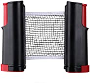 Retractable Adjustable Table Tennis Nets Post Set Replacement Ping Pong Net and Post Indoor Outdoor Game Acces