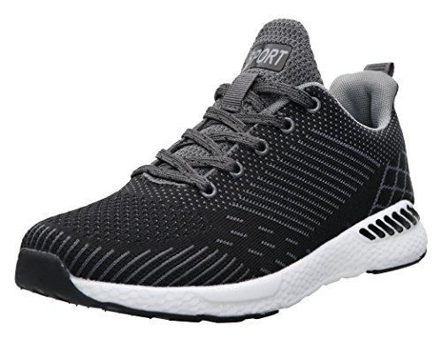 JOOMRA Herren der Perfekte Laufschuh Schuhe Workout-Schuh Wald oder Feldwegen Männer Mann Sneaker Grau Schwarz 44 EU (45 Asien) (Laufschuhe Besten Am Gepolsterte)