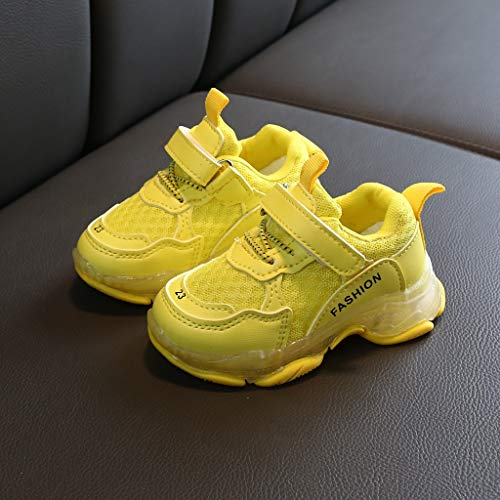 Imagen para HoSayLike NiñOs NiñAs NiñOs Calzado Deportivo Candy Colors Infant Kids Baby Mesh Running Sneakers Los Zapatos De Red Caterpillar Vuelan Calcetines EláSticos Tejidos Zapatos Casuales