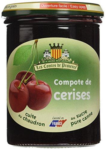Les Comtes de Provence Compote de Cerises 420 g - Lot de 3