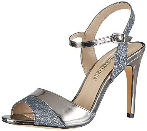 Buffalo Shoes Damen 15S90-5 Glitter Metallic PU Knöchelriemchen, Mehrfarbig (Pewter 27), 37 EU