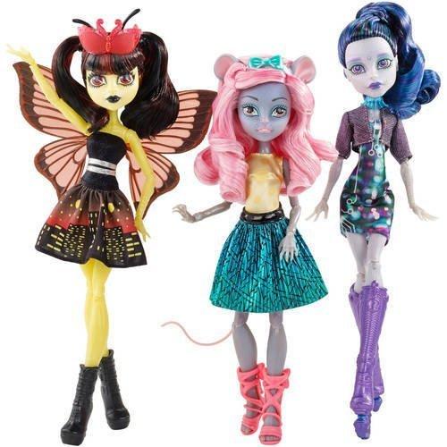 Monster High Boo York Boo York A Monsterrific Musical - Luna Mothews, Mouscedes King, and Elle Eedee 3-Pack by Mattel (Monster High Zeigen)