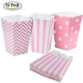 Diealles Scatole di Popcorn, 36PCS Contenitori di Popcorn Contenitori di Caramelle per Spuntini del Partito, Dolci, Popcorn e Regali