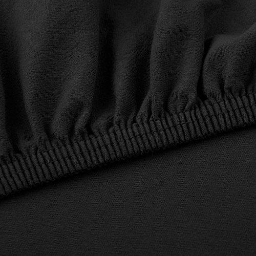 CelinaTex Lucina Spannbettlaken 180×200 – 200×200 schwarz Jersey Baumwolle Spannbetttuch Doppelbett Matratzen 0002820 - 3