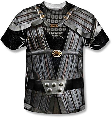 Star Trek-jugend-t-shirt (Star Trek - Jugend Klingon Uniform T-Shirt, Large, White)