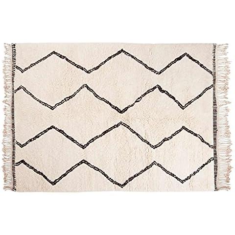 Naima: Alfombras marroquíes Beni Ouarain estilo bereber Hechas a Mano Comercio Justo Todos los tamaños de las lanas (150cm x 200cm / 4' 11'' x 6' 6.7'')