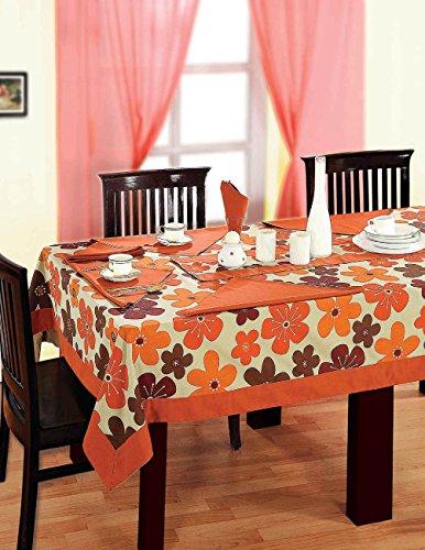 multicolori variopinte del cotone della molla tovaglie fiorite per tavoli da pranzo di 60 x 84 pollici, Rust frontiera