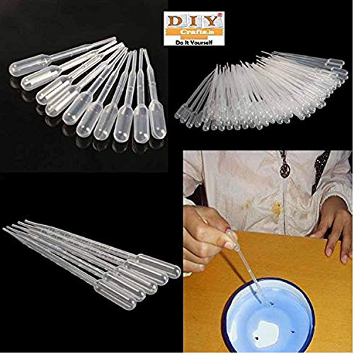 DIY Crafts Graduated Pipettes Polyethylene Dropper for Experiment Medical - Pack of 100 Pcs