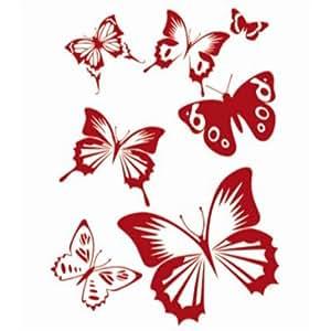 pochoir de peinture murale motif de papillon pour. Black Bedroom Furniture Sets. Home Design Ideas