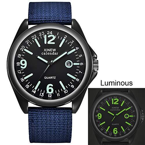 Herrenuhren,Gaddrt Militär Herren Quarz Army Watch schwarzes Zifferblatt Datum Luxus Sport Armbanduhr (B)