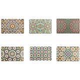 Villa d 'Este Home Tivoli Marrakech Juego de 6 manteles individuales, plástico, multicolor, 44 x 28 x 0.1 cm
