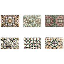 Villa d'Este Home – Tivoli Marrakech, juego de 6manteles individuales, multicolor, 44x 28x 0,1cm, 6unidades