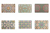 Villa d'Este Home Tivoli Marrakech Set 6 Tovagliette, Multicolore, 44x28x0.1 cm, 6 Unità