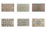 Villa d'Este Home Tivoli Marrakech Set of 6Placemats, Multicoloured, 44x 28x 0.1cm, 6Units