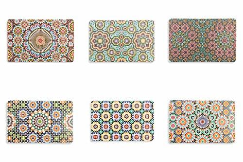 _ Villa d'Este Home Tivoli Marrakech Set 6 Tovagliette, Multicolore, 44x28x0.1 cm, 6 Unità comprare on line