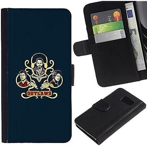 Stuss Case / Funda Carcasa PU de Cuero - Outlaws - Sony Xperia Z3 Compact