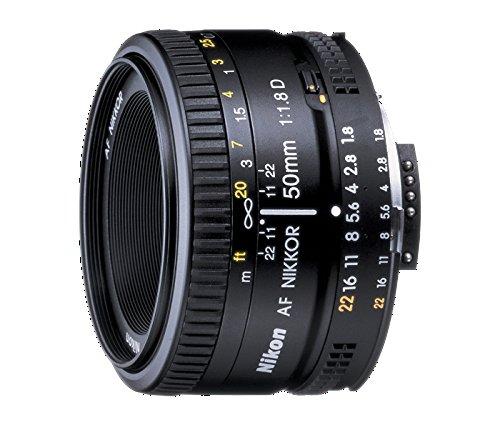 Nikon AF Nikkor 50mm - Objetivo para Nikon (distancia focal fija 50 mm, apertura f/1.8, diámetro: 63 mm) Negro