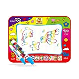 Magic Water Doodle Mat with Rainbow Color Swatches, Children Water Drawing Mat Board, Educational Toy Gift For Kids