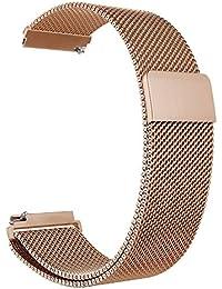 Aimtel - Bracelet Acier Inoxydable 18 mm Boucle Milanaise pour Montre Intelligente Smartwatch Fossil Q Venture/Gen 4/Huawei TalkBand B3