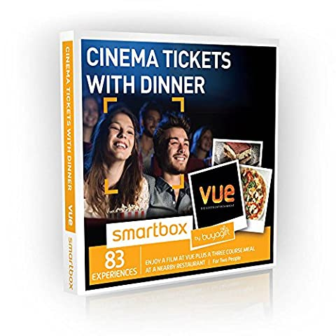 Buyagift Cinema Tickets with Dinner Gift Experiences - 83 cinema experiences for two and dinner at Prezzo, Zizzi, or Bella Italia