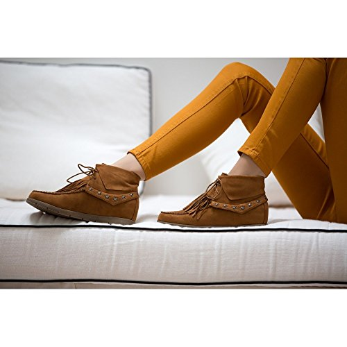 Ideal Shoes ,  Stivali donna Cammello