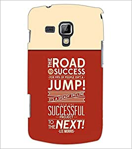 PrintDhaba Quote D-3715 Back Case Cover for SAMSUNG GALAXY S DUOS S7562 (Multi-Coloured)