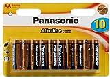 Panasonic 2379 - Paquete de 10 baterías alcalinas AA (1,5 V)