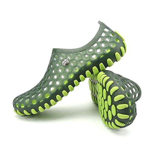 ZXCV Scarpe all'aperto Scarpe da uomo impermeabili delle scarpe degli uomini all'aperto piatti Verde