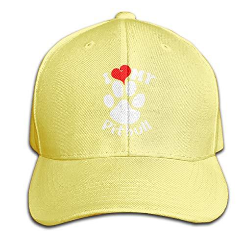 Osmykqe I Love My Pitbull Unisex Sommer Sonnenhut einstellbar lässig Golf Tennis Caps (Warmes Wetter Fedora)
