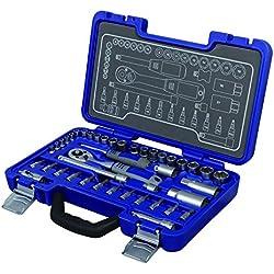Michelin Steckschlüsselsatz MSS-42-1/4-3/8, 42-tlg., 1/4, 3/8 Z - Profiqualität für die heimische Werkstatt - 602010120
