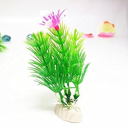 LAAT 10pcs Artificial Aquatic Plant Decoration for Aquarium Plastic Fish Tank Plants Accessories (2) 7