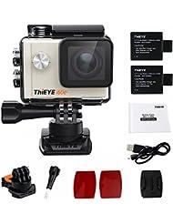 ThiEYE i60e 4K caméra d'action de sport 60M étanche Wifi 12MP FHD 2.0 pouces d'écran 170 ° lentille grand angle 360 ° boucle rotative, mini casque extérieur caméra caméra vidéo caméra
