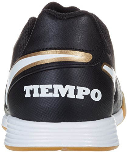 Nike Tiempo Legend Vi Ic Jr, Chaussures de football mixte enfant Noir - Schwarz (Schwarz/Weiß/Gold)