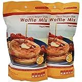 2 x Luxury Belgian Style Waffle Mix - 1kg Bag - Waffle Mixture for Belgian Waffles & Liege Waffles