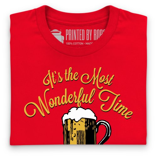 Wonderful Time For A Beer T-Shirt, Damen Rot